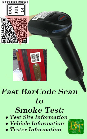 Optional wired QR Barcode Reader